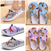Women Breathable Slippers Hollow-out Beach Sandals Garden Summer Hole Flat Shoes