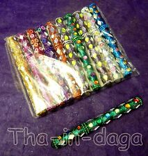 10 Stylos Kitsch Paillettes Bollywood Assortiment 100% Artisanat Inde 1