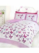 BUTTERFLY FLUTTER KING SIZE DUVET COVER SET - PINK NEW BUTTERFLIES