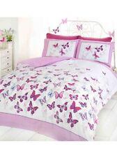 papillon Flutter Parure housse de couette king size - Rose Neuf papillons