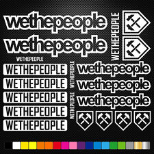 We The People decals stickers sheet cycling, mtb, bmx, road, bike die-cut