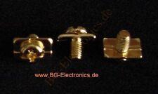 10x vergoldete Schrauben M5 Verstärker Endstufe Verteiler