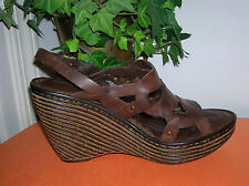 Born Genesis Leather High Heel Wedge Sandals Womens Sandal Sz 9 M Born Sandal