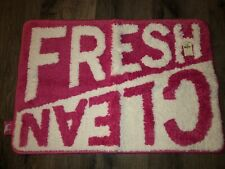 Pink by Victoria's Secret Fresh Clean Bath Room Mat Rug Pink And White Nwt