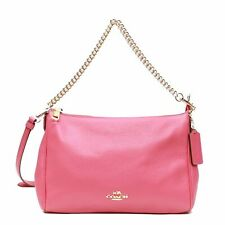 NEW Coach F36666 Pebble Leather Carrie Crossbody- Dahlia