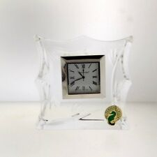 Waterford Crystal Bamboo Small Clock Ireland Deco Style