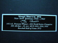 Yogi Berra Autograph Nameplate New York Yankees Autograph Jersey Ball Photo