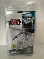 Star Wars Legacy Stormtrooper Commander SDCC Force Unleashed Hasbro MOSC in Case
