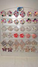 JOBLOT de 18 Pares Mezclados Diseño Pendientes Con Diamante-Nuevo Lote Mayorista I