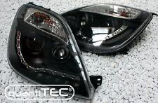 SCHEINWERFER FORD FIESTA JH1 JD3 01-05 LED TAGFAHRLICHT TFL SCHWARZ BLACK +MOTOR