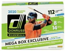 2020 Donruss MLB Baseball Sealed Mega Box 1 Auto 14 Holo Pink 14 Pink Fireworks