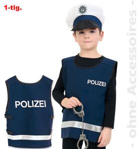 Polizei Weste Kostüm blau Kinder Jungen Jungs Fasching Karneval Polizist