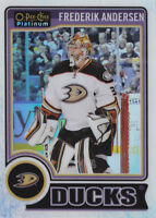 14-15 OPC Platinum Frederik Andersen /199 WHITE ICE OpeeChee Maple Leafs 2014