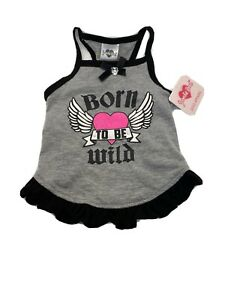 """Smoochie  Pooch """"Born To Be Wild"""" Puppy Small Dog Dress Vest Shirt Clothes"""