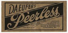 Daeufer's Peerless Beer label Irtp U# Allentown Pa