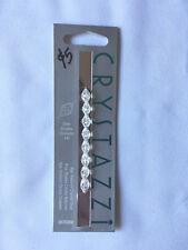 CRYSTAZZI Crystal Beads. Crystal, Oval. 8pc, 9 x 6mm. New Unused