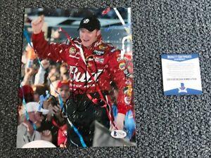 L@@K Dale Earnhardt Jr. Signed 8x10 Photo Autographed Auto BAS not PSA