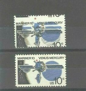 US 10c Space Mariner - 10 Mint NH Stamp With Drastically Misplaced Color Error