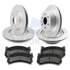 Front Rear Brake Disc Rotors and Ceramic Pads For Cadillac Escalade 2015-2016
