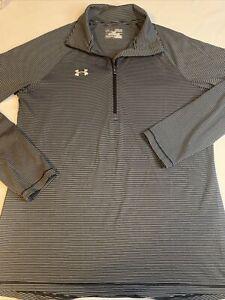 Women's Under Armour Size Medium Heatgear 1/4 Zip Athletic Pullover Shirt