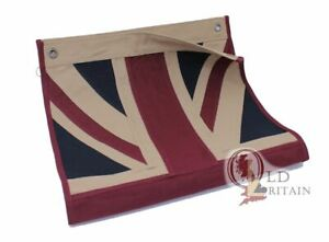 Small Vintage Union Jack Eco Flag   Stitched Cotton Fabric   Tea Stained UK-GB