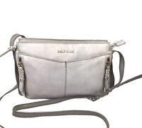 COLE HAAN FELICITY Women's Leather in Dark Grey Crossbody Bag