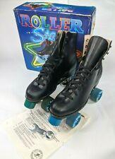 Roller Derby Mens Quad Roller Skates Size 12 Black Vintage Roller Star 1980s 80s