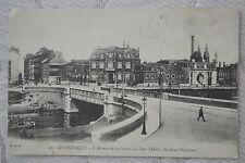"""CPA """" DUNKERQUE - L'Avenue de la Gare - Le Pont Thiers - La Sous Préfecture"""