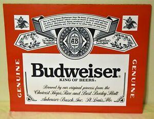 BUDWEISER Label Beer Logo 16x20 Poster