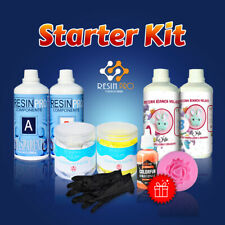 Starter Kit With I Colours And Gloves IN Gift! Resin Epoxy, Rubber, Colours