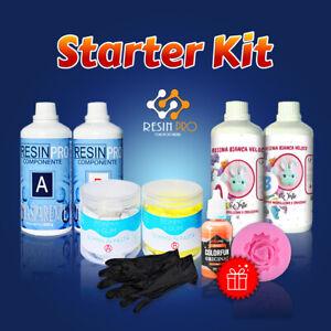 STARTER KIT con i colori e i guanti IN REGALO! Resina Epossidica, Gomma, Colori