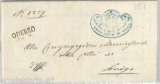 64276 - ITALIA REGNO - STORIA POSTALE : BUSTA in FRANCHIGIA da ODERZO 1861