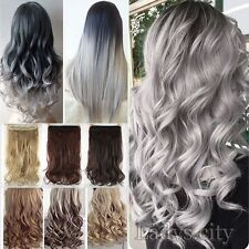 Ombr synthetic hair extensions ebay uk deluxe thick clip in 100 real as human hair extensions full head ombre hair pmusecretfo Choice Image