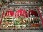 SILK VELVET - WALL CARPET WITH CABE PICTURE - 120X180 CM good condition and soli