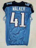 #41 Walker of Tennessee Titans NFL Locker Room Game Issued Jersey