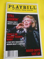 July  2002 - National Theatre Magazine - Still Cookin - Barbara Cook - Sondheim