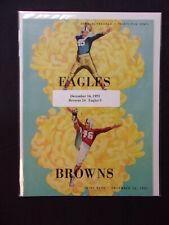 Vintage December 16, 1951 Cleveland Browns vs Philadelphia Eagles Program 17
