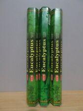 Eucalyptus Incense  3 Packs x 20 Sticks  HEM Hex   Free Post AU