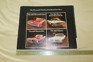 (MB2/F) Brochure catalogue 1968 PLYMOUTH Fury Barracuda Valiant Mid-Size 5