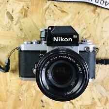 Classic testato fotocamera Nikon F2A Photomic + 43-86mm 3.5 Lens + SCATTO
