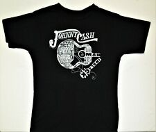 JOHNNY CASH Black T-Shirt New Licensed XXL See Measurements