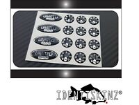 LIMITED EDITION KIT SILVER / BLACK  DELKIM TXI PLUS EV DOMED Stickers / decals