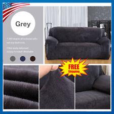 1/2/3 Seater Velvet Stretch Elastic Loveseat Armchair Sofa Slipcover Couch Cover
