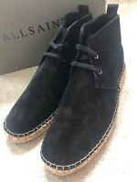"ALL SAINTS BLACK ""KERN"" ESPADRILLE SHOES BOOTS - UK 7 8 9 10 11 - NEW & BOXED"