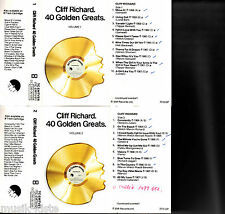 CLIFF RICHARD - 40 Golden Greats. Volume 1 + 2 ★ 2 MC Musikkassetten
