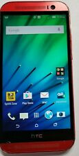 HTC ONE M8 32GB - RED - SPRINT/TING HTC6525L - CLEAN IMEI - HEAVY WEAR - WORKS
