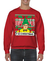 Office Dwight It Is Christmas Ugly Christmas Sweater Men's Crew Neck Sweater