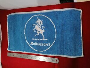 VINTAGE ROBINSON'S BEST BITTER - PUB BAR BEER TOWEL BREWERIANA 70s /80s. Rare
