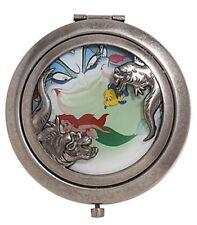 Disney The Little Mermaid Ariel Ursula Flounder Compact Mirror New!