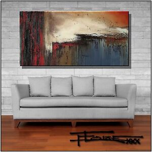 ABSTRACT PAINTING Modern Canvas Wall Art Large, Framed, US  ELOISExxx